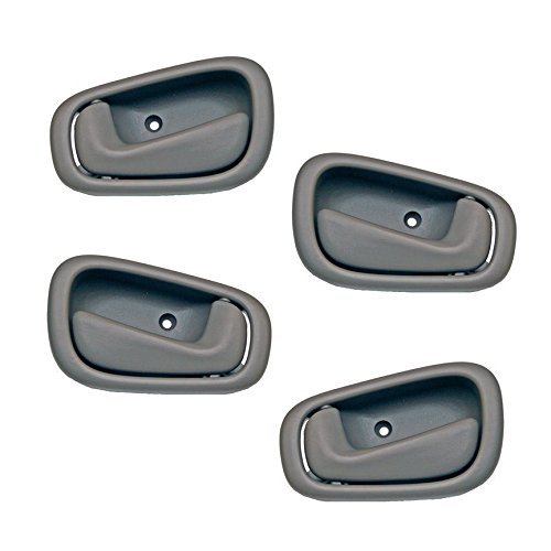 Motorking Toyota Corolla Gray Replacement Set 4 Inside Door Handles (Toyota Corolla 98 Handle)