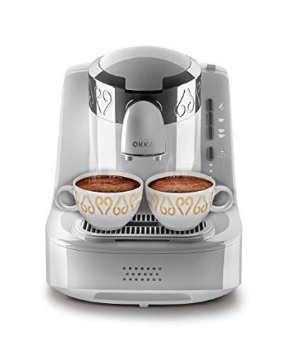 Arzum Okka OK002W Automatic 120V Turkish/Greek Coffee Machine, White/Chrome
