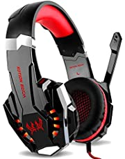 G9000 Gaming Headset Headphone 3.5mm Stereo Jack with Mic LED Light for Xbox One S/Xbox one/PS4/Tablet/Laptop/Cell Phone