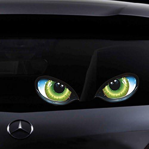 xj 3X3D Adesivi per Auto Personalizzati Decalcomanie Occhi Sbirciare Mostro Decorazione Adesivo Finestra Decalcomania Simulazione Leopardo Auto Camion Stampato Spaventoso per Laptop iPad Parete Moto