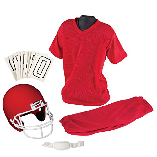 Franklin Sports Youth Football Uniform Set, Medium, Red