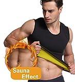Glamours Mens Body Shaper Vest Slimming Sweat Tummy Fat Burner Tank Top