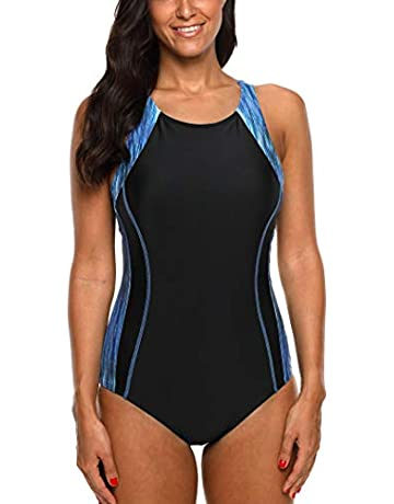 0d9bc582bb8292 CharmLeaks Women's Competitive Athletic One Piece Swimsuit Racerback  Training Swimwear Bathing Suits