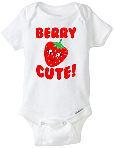 Berry Cute Strawberry Funny Baby Onesie Blakenreag Baby Boy Girl Clothes (Newborn) Berry Kids Clothing