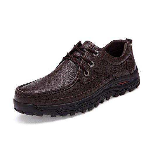 AARDIMI Chaussures à Lacets Homme Marron os3lJ9b