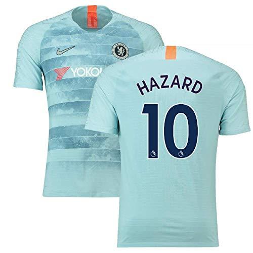 5cc63c32ac8 2018-19 Chelsea Third Football Soccer T-Shirt Jersey (Eden Hazard 10 ...