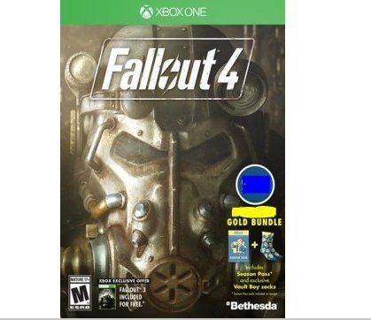Fallout 4  Xbox One Gold Bundle With Season Pass Exclusive Vault Boy Socks