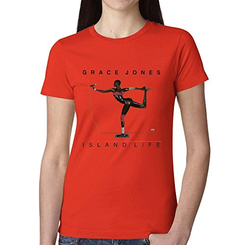 Grace Jones Island Life T Shirts For Women Red