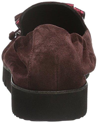 Kennel und Schmenger Schuhmanufaktur Malu X, Bailarinas con Plataforma Mujer Rojo (Chianti/Rouge Sohle Negro)