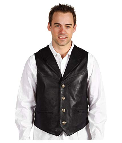 Scully Men's Lambskin Lapel Vest Black Large