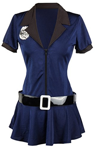 [Alivila.Y Fashion Womens Sexy Police Officer Cop Halloween Costume 7820-XXL] (Sheriff Costume Women)