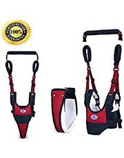 Adjustable Baby Walking Harness Safety Harnesses, Pulling and Lifting Dual Use 7-24 Month Breathable Stand Up & Walking Learning Helper for Infant Child Activity Walker (Blue)