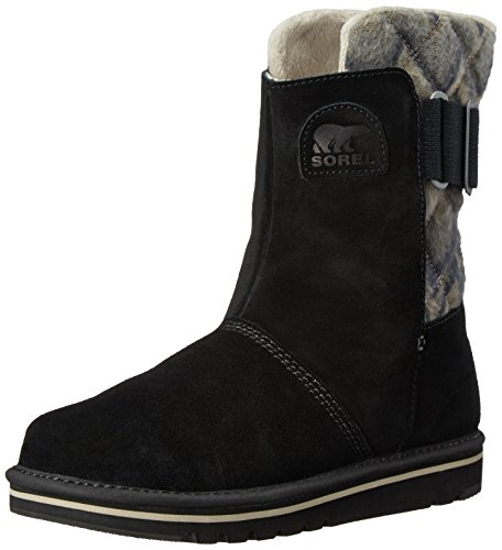 Sorel Women's The Campus Mid Chevron Boot, Black, 8.5 M US