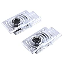 2pcs No Drill Type Car Projector Door LED Logo Lamp Ghost Shadow Welcome Light for Cadillac