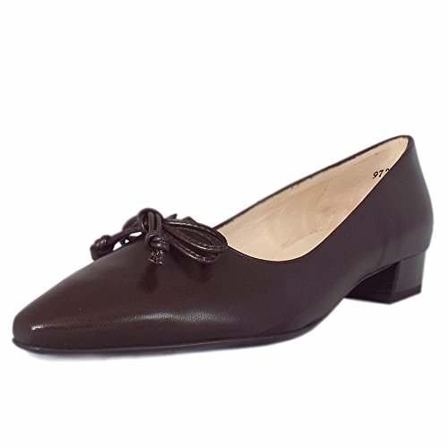 NUBA CHEVRO Toe Pointed Courts Kaiser Chevro Heel Peter Lizzy Low in Nuba 6BqSwR