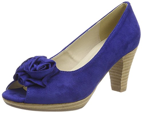 Conti Tacón Cobalto De Mujer Azul Platea Punta Andrea Con Zapatos Abierta wSdqWSIv