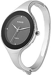 KIMIO Bling Fashion Crystal Elegant Women Lady Stainless Steel Bracelet Quartz Watches