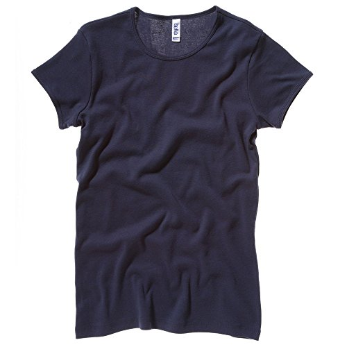 Bella+Canvas Baby rib short sleeve crew neck t-shirt Navy XL