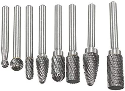 Grinding Polishing Head 11/11 5PCS/Set Assorted 12mm Head Tungsten Carbide Rotary Point Burr Die Grinder Bit 6mm Shank Milling Cutter Abrasive Tools