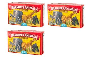 Nabisco Barnum Animal Crackers - Convenient Size (Pack of 3)