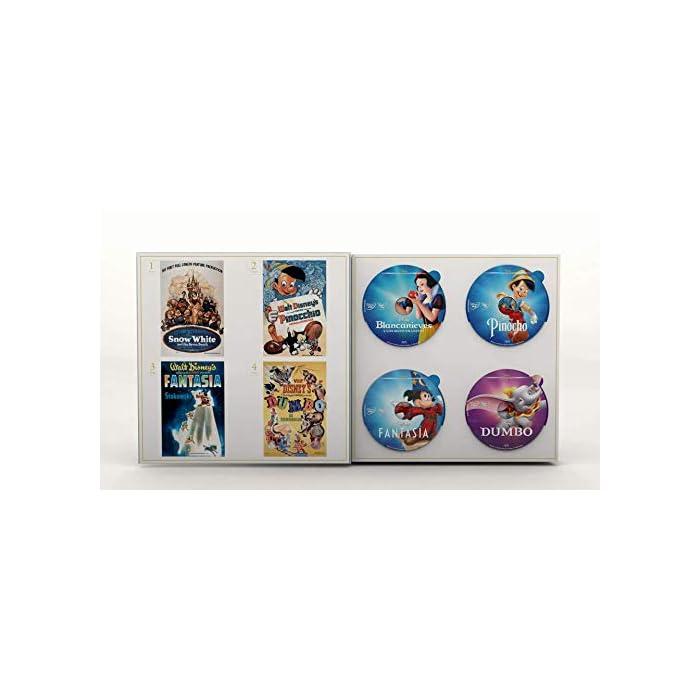 41qL9nLNbzL En 1937, Walt Disney Studios lanzó su primer largometraje completamente animado, Blancanieves y los 7 enanitos, y fue pionero en una nueva forma de entretenimiento familiar. Más de siete décadas después, Walt Disney Animation Studios continúa honrando su legado a través de películas animadas que combinan un hermoso arte, una narración magistral y una tecnología innovadora. Revive y posee para siempre 57 películas clásicas de Disney de 1937 a 2019 con esta colección especial limitada.