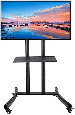 CO-Z Soporte de Suelo para TV Móvil para LCD, LED, Pantallas de Plasma de 32 Inches a 65 Inches (81 cm a 165 cm) Altura Ajustable con Soporte y Ruedas Bloqueables: Amazon.es: Hogar