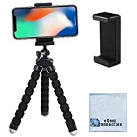 """Acuvar 6.5"""" inch Flexible Tripod with Universal Mount for All Smartphones & an eCostConnection Microfiber Cloth"""