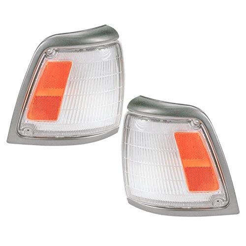 (Side Corner Marker Parking Light Lamp Pair Set for 92-95 Toyota Pickup Truck)