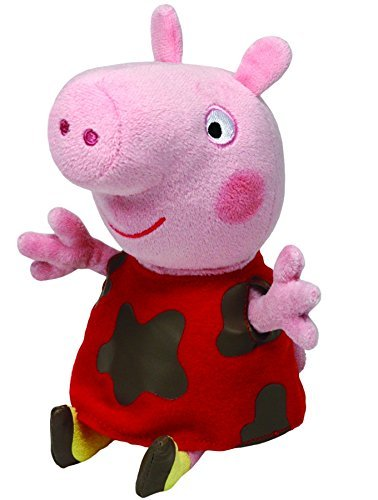 : TY UK 6 inch Peppa Pig Muddy Puddles Beanie by