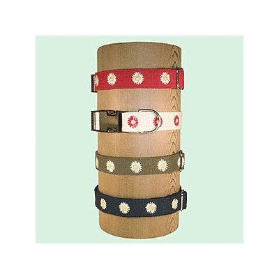 Daisy Cotton Collar Color: Red, Size: Large