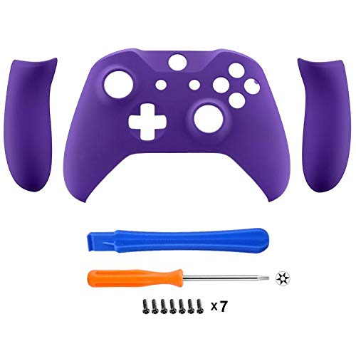 Amazon.com: eXtremeRate Soft Touch Purple Faceplate Cover, Front