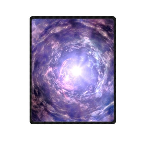 Best-selling Vortex Pattern Fleece Travel Blanket with Standard Size 40