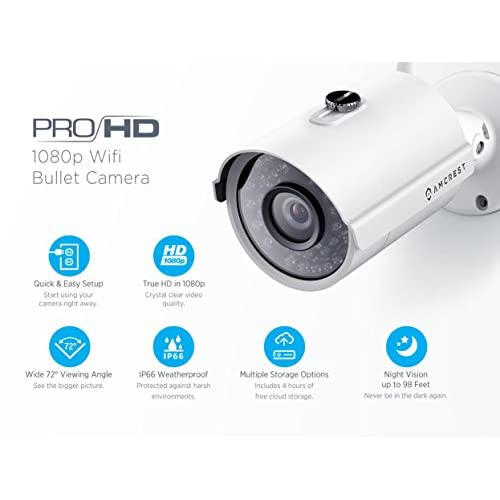 high-quality Amcrest ProHD Outdoor 1080P POE Bullet IP
