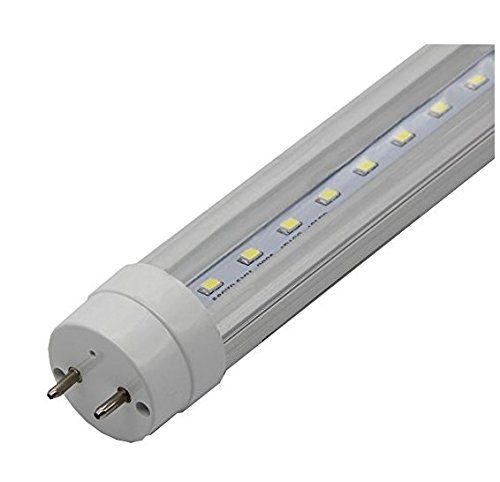 ZTSS T8 LED Light Tube, 5FT 60Inch 24w (Equivalent 80W Fluorescent Bulb), 3000K (Warm Light), 2500~3000 Lumens, 50000 Hours, Clear Cover, CE & UL & DLC Certification Certification