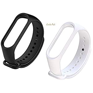 Three Dots Lifestyle Wristband Straps for Xiaomi Mi3 Band (Combo Pack, Pack of 2)