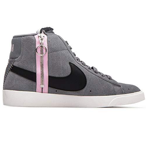 Nike Women's Blazer MID Rebel Cool Grey/White/Dark Grey BQ4022-004 (Size: 7.5)