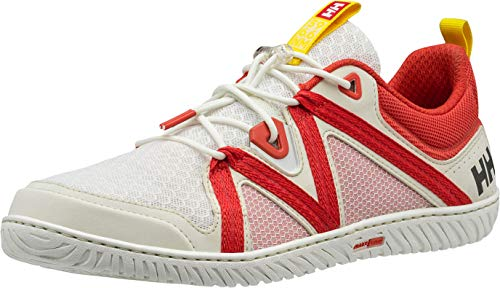 Helly Hansen Women's HP Foil F-1 Sailing Deck Shoe, Off White/Cherry Tomato/Neon Yellow, 7.5 from Helly Hansen