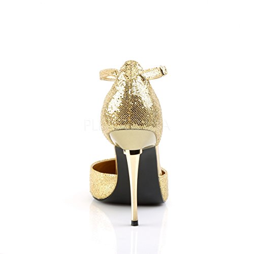 Toe with golden High PleaserUSA Womens Heels 21 Pointed Appeal woven golden ankle strap woven qXppfwE7r