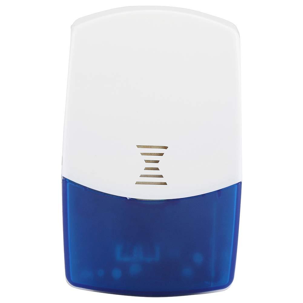 Alarma Sonora y Visual 433 MHz Alarma inal/ámbrica de Sirena,120DB para Sistema de Alarma de Seguridad para el hogar