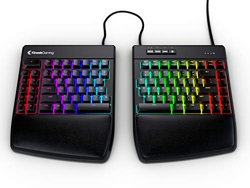 KINESIS Gaming Freestyle Edge RGB Split Mechanical Keyboard (MX Blue)