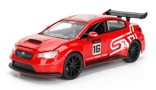 NEW 1:24 JADA TOYS DISPLAY JDM TUNERS COLLECTION - RED 2016 SUBARU WRX STI WIDEBODY Diecast Model Car By Jada Toys (WITHOUT RETAIL BOX)