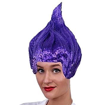 Adultos colores vivos Troll Muñeca 90 de púas peluca para disfraz accesorio