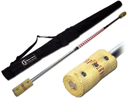 Fire Staffs: CONTACT Fire Staff - 1.4m (2 x 100mm wicks) by Flames 'N Games + Travel Bag! by Flames N Games Staffs, Fire Staffs, Contact Staffs