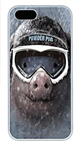 For Iphone 5/5S Phone Case Cover Powder Pig PC Hard Plastic For Iphone 5/5S Phone Case Cover Whtie