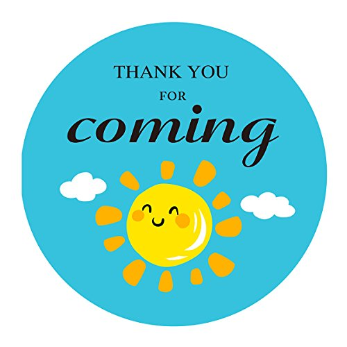 MAGJUCHE Sun Clouds Thank You Stickers, You are My Sunshine Baby Shower Birthday Party Favors Sticker Labels, 2 Inch, -
