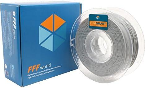 FlexiSMART Gris 1kg Filamento Flexible TPU 1.75mm para Impresora ...