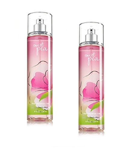 Bath & Body Works Signature Collection - Sweet Pea Fragrance Mist- 8 FL oz. Lot of 2