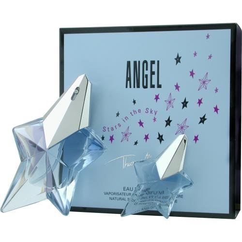 ANGEL by Thierry Mugler EAU DE PARFUM SPRAY .8 OZ & EAU DE PARFUM .17 OZ MINI (TRAVEL OFFER) (Package Of 2) by ANGEL