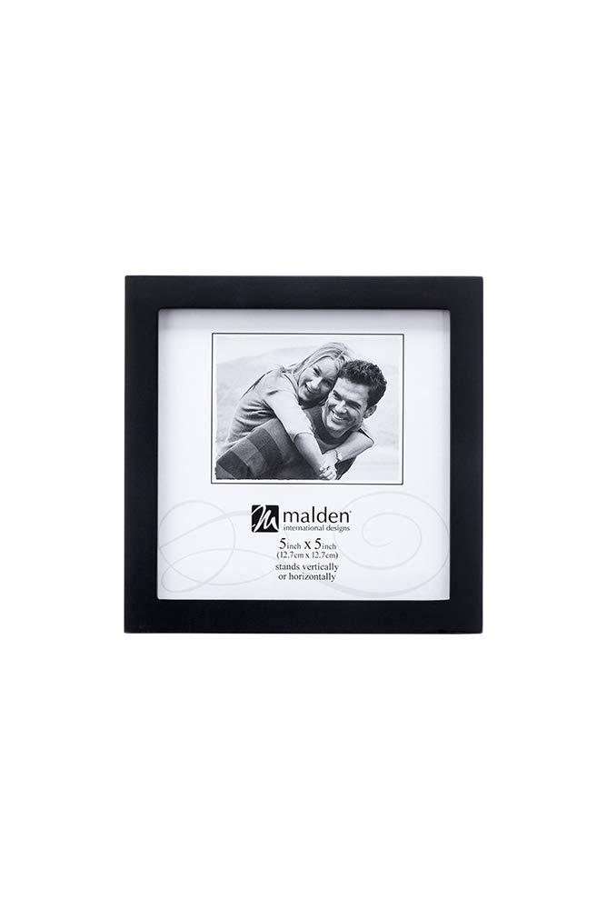 Malden International Designs Black Concept Wood Picture Frame, 5x5, Black by Malden International Designs