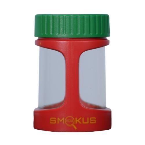 Smokus Focus Stash Display Container w/ LED Light and Dual Magnification - Rasta - Focus Smokus